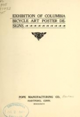 Cover of Exhibition of Columbia bicycle art poster designs