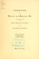 """Cover of """"Exhibition of Oriental and American art"""""""