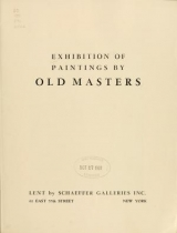 """Cover of """"Exhibition of paintings by old masters, [Los Angeles Museum] /"""""""