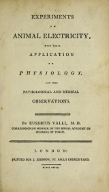Cover of Experiments on animal electricity