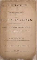 Cover of An explanation of the observed irregularities in the motion of Uranus