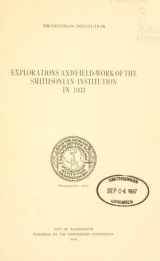 """Cover of """"Explorations and field-work of the Smithsonian Institution in"""""""