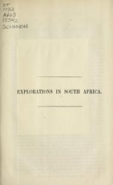 Cover of Explorations in South Africa