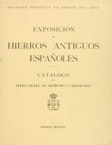 Cover of Exposición de hierros antiguos españoles