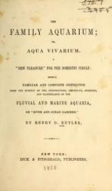 """Cover of """"The family aquarium; or, Aqua vivarium ..."""""""