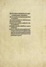 Cover of Fasciculus medicine in quo continentur- videlicet