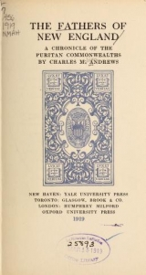 Cover of The fathers of New England