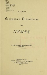 Cover of A few scripture selections and hymns