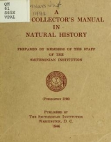 Cover of A field collector's manual in natural history