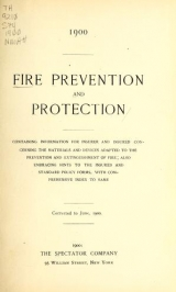 Cover of Fire prevention and protection