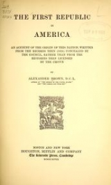 Cover of The first republic in America