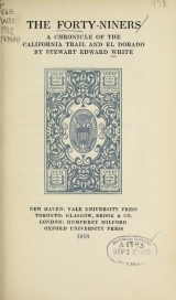 Cover of The forty-niners