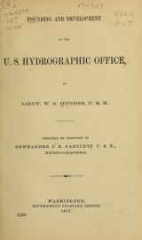 "Cover of ""Founding and development of the U.S. Hydrographic Office /"""