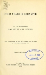 "Cover of ""Four years in Ashantee /"""