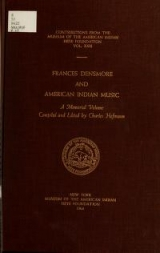 Cover of Frances Densmore and American Indian music