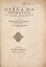 Cover of Francisci Vietæi Opera mathematica