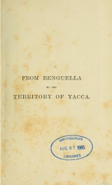 Cover of From Benguella to the territory of Yacca