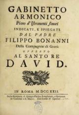 Cover of Gabinetto armonico pieno d'istromenti sonori