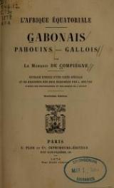 Cover of Gabonais, Pahouins, Gallois