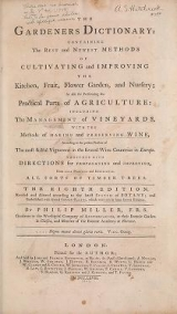 Title page of The gardeners dictionary
