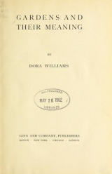 Cover of Gardens and their meaning