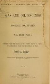 Cover of Gas and oil engines in foreign countries