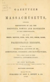 Cover of A gazetteer of Massachusetts