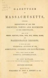 Cover of A gazetteer of Massachusetts