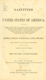 Cover of A gazetteer of the United States of America