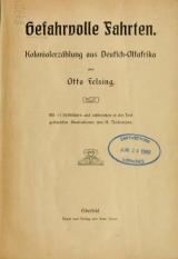 Cover of Gefahrvolle Fahrten