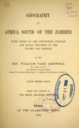 Cover of Geography of Africa south of the Zambesi