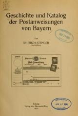 Cover of Geschichte und Katalog der Postanweisungen von Bayern