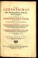 Cover of Het gezantschap der Neêrlandtsche Oost-Indische Compagnie, aan den grooten Tartarischen Cham, den tegenwoordigen keizer van China