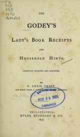 Cover of The Godey's Lady's book receipts and household hints