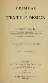 Cover of Grammar of textile design