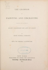 """Cover of """"The grammar of painting and engraving;"""""""