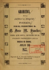 Cover of Gramática de la lengua zoque
