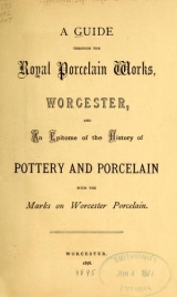 Cover of A guide through the Royal Porcelain Works, Worcester