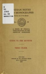 Cover of Guide to the museum; third floor