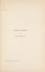 Cover of Haida songs