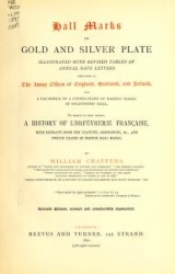 Cover of Hall marks on gold and silver plate