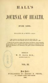Cover of Hall's journal of health