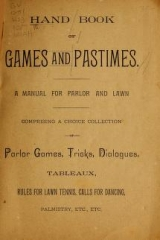 Cover of Hand book of games and pastimes
