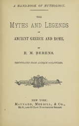Cover of A hand-book of mythology