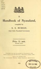 Cover of A handbook of Nyasaland