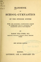 Cover of Handbook of school-gymnastics of the Swedish system