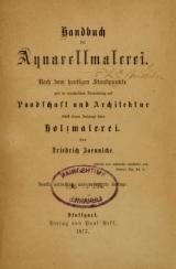 Cover of Handbuch der aquarellmalerei