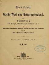 Cover of Handbuch für den Reichs-, Post- und Telegraphendienst