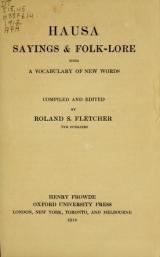 Cover of Hausa sayings & folk-lore