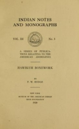 Cover of Hawikuh bonework